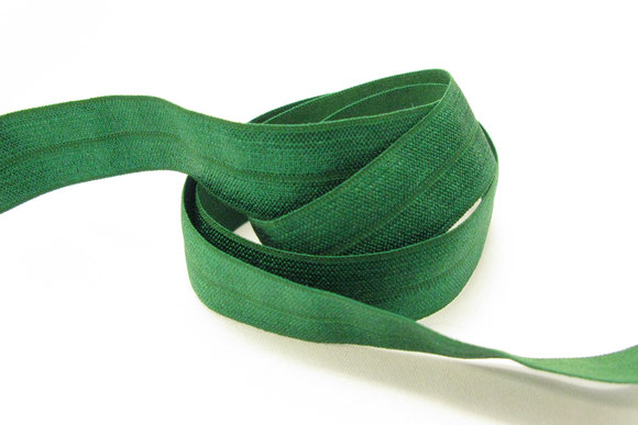 Elastic bias drape in gras-green 2cm