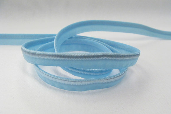 Elastic piping, light blue