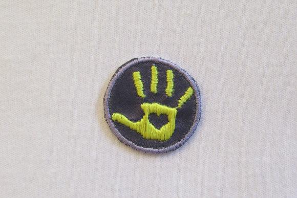 Hand patch Yellow/purple 2,5cm