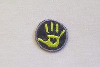 Hand patch Yellow-purple 2.5cm