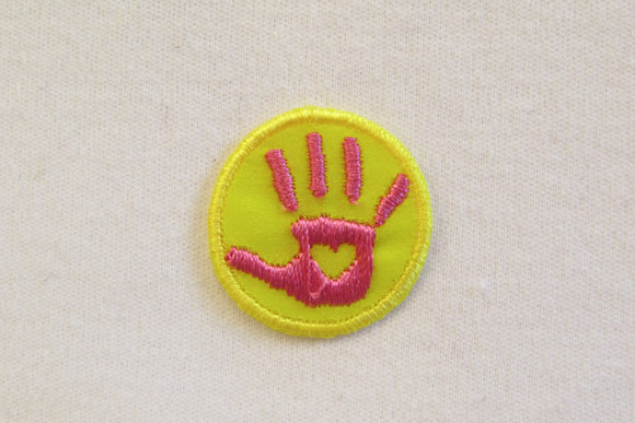 Hand patch Yellow/pink 2,5cm