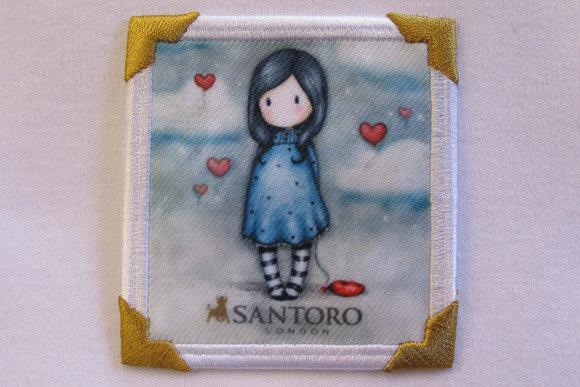 Santoro girl motiv petrol 7x7cm