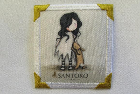 Santoro girl motiv white 7x7cm