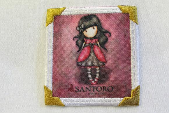 Santoro girl motiv green 7x7cm