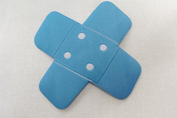 Turqoise bandaid iron on patch 7x7 cm