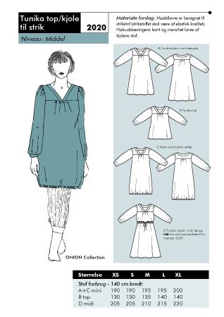 Tunika top/dress for knit