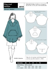 Cape with details. Onion 6010.