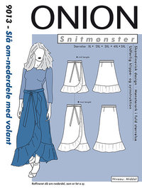 Wrap skirts with volant. Onion 9013.