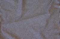 Across-striped, very narrow, black and white cotton-jersey