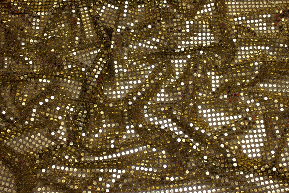 Golden-black glimmer-fabric in gorgeous quality