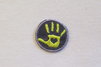 Hand patch Yellow-purple 2.5cm