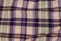 Large-checks cotton and polyester in purple, mint and white