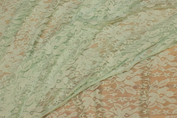 Light mint-green, lightweight stretch-lace