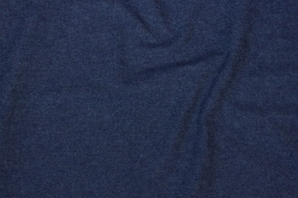 Medium-thickness, dark blue denim