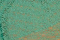 Mint-green dress-lace-fabric with double scallop edge