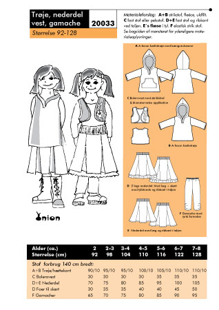 Sweatshirt, skirt, vest, gamache