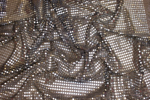 Silver-black glimmer-fabric in gorgeous quality