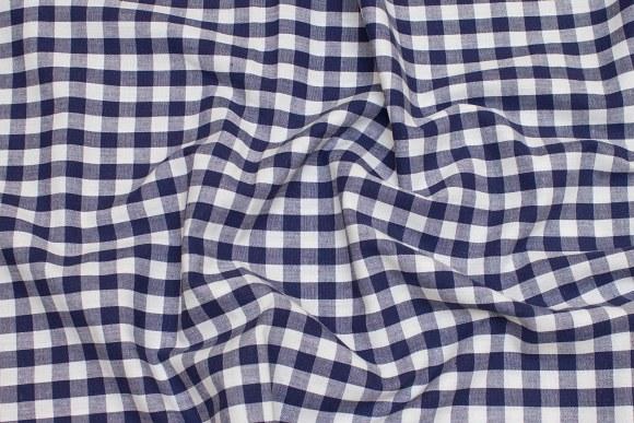 White and blue kitchen checks, classic design, 1x1 cm checks