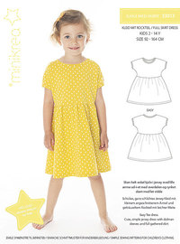 Dress with skirt. Minikrea 33013.