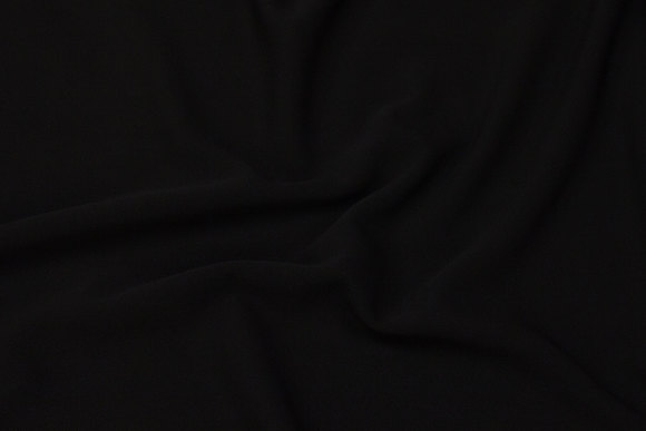 Black, soft 2-way stretch for dresses, skirts and light pants