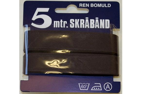 Dark brown bias tape, 5 meter