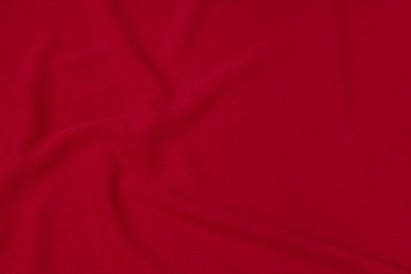 Deep-red, soft 2-way stretch for dresses, skirts and light pants