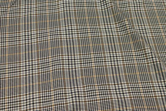 Grey and black stretch-checks with light brown stripe