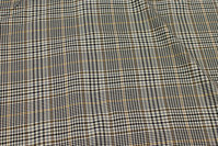 Grey and black stretch-checks with light brown stripe