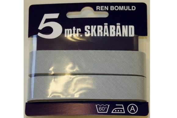 Light grey bias tape, 5 meter