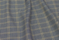 Navy and light stretch-checks with yellow line-checks