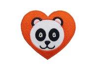 Panda-in-a-heart patch 6cm
