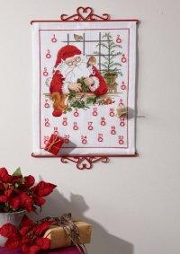 Gift calendar with Santa. Permin 34-1603.