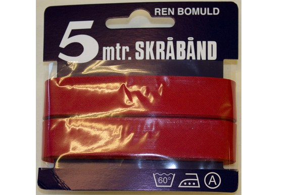 Red bias tape, 5 meter