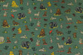 Speckled dusty-green jersey with small forest-animals.