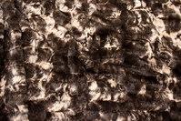 Supersoft fake fur in dark-brown and beige