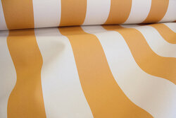 Texgard-coated awning fabric, ocher and ivory color