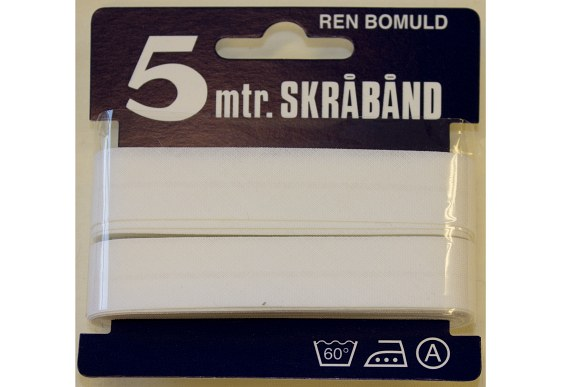 White bias tape