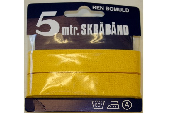 Yellow bias tape