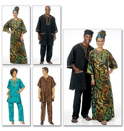 Tunic, Caftan, Pants, Hat and Head Wrap