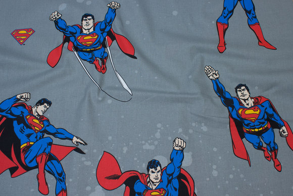 Grey cotton with Superman