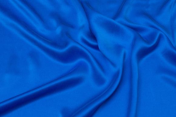 Uniform-blue, gorgeous sandwashed pure silk