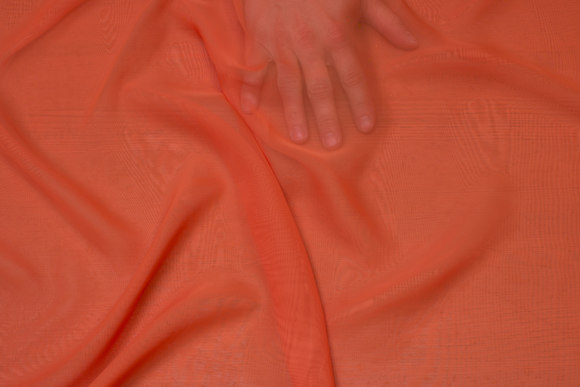 Orange chiffon, some transparency