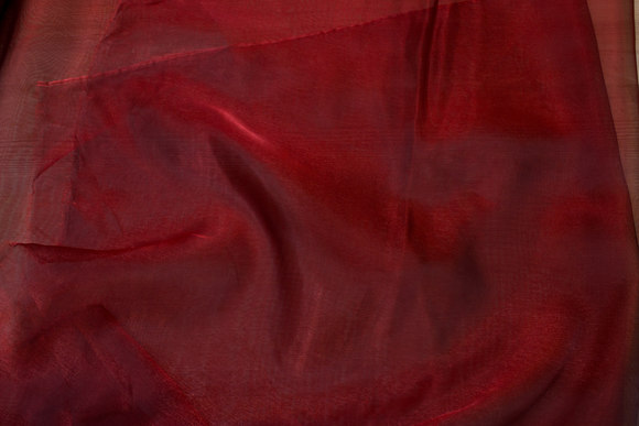 Transparent wine-red organza