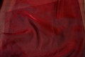 Transparent wine-red organza . 6,57