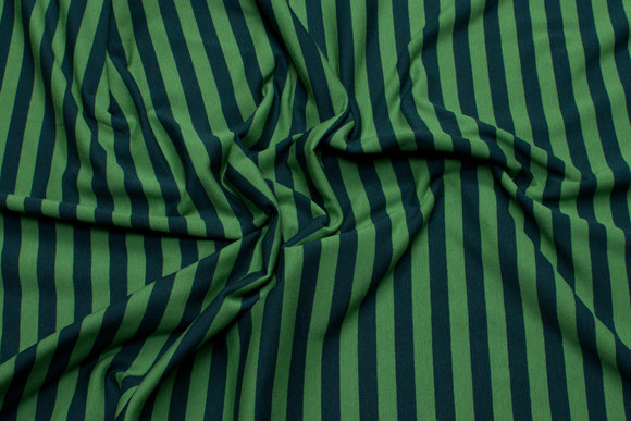 Light green and green cotton-jersey with 10 mm stripes