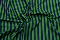 Light green and green cotton-jersey with 10 mm stripes.