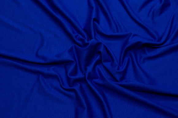 Lightweight viscosejersey in cobolt-blue