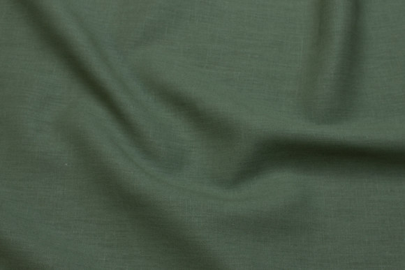 Beautiful 100% linen in dark green