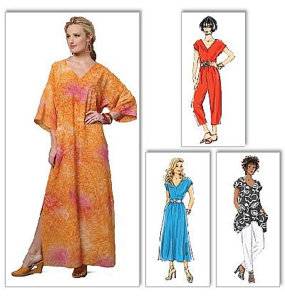 Top, Dress, Caftan, Jumpsuit and Pants