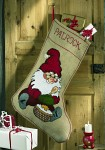 Christmas sock stocking - Happy Santa Claus